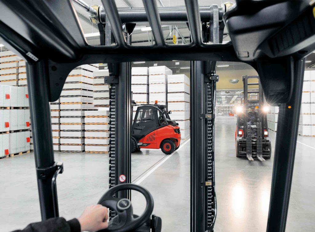 Dieselstapler Durchsicht Linde