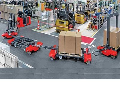 Stapler und Lagertechnik Routen- und Logistikzüge