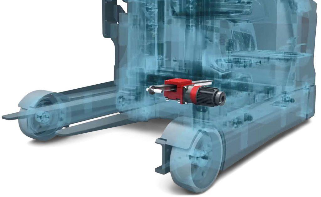 Schubmaststapler Animation des Antriebes