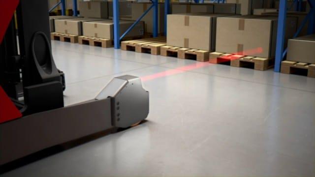 Lasererkennung des Regalanfahrschutzes von Linde