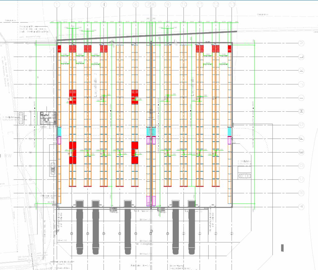 Intralogistik Projekt Regalplanung